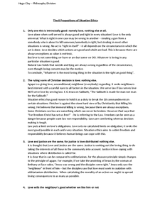 Preview of Situation Ethics - 6 Propositions Notes