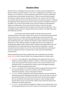 Preview of Situation Ethics: OCR AS Religious Studies
