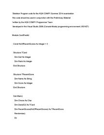 Preview of Skeleton Program VB_Net June 2014