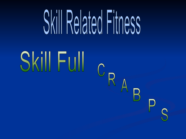 Preview of Skill Related Fitness JackHunt School