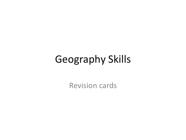 Preview of Skills exam revision cards