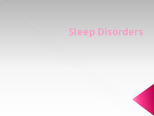 Preview of sleep disorders