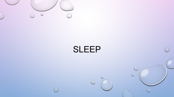 Preview of Sleep Powerpoint
