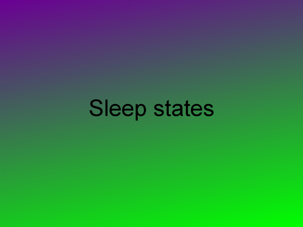 Preview of sleep states