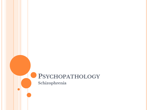 Preview of Slide show of Schizophrenia Module