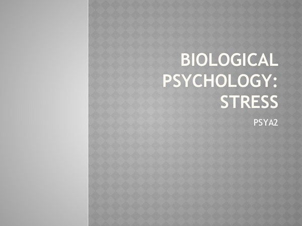 Preview of Slide show of the Stress module PSYA2