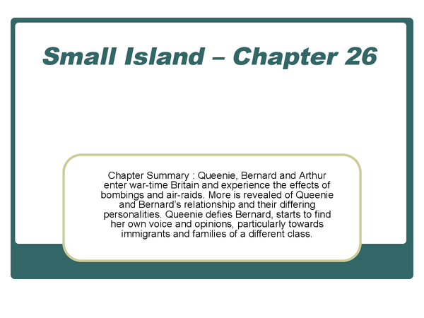 Preview of Small Island - Chapter 26 Key notes