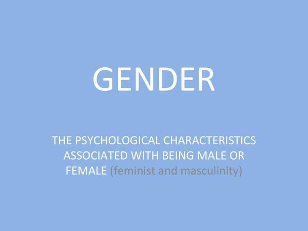Preview of SMALL POWERPOINT ON BASICS OF GENDER