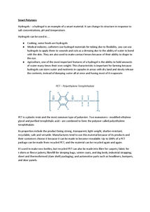 Preview of Smart Polymers and Polyethylene Terephthalate