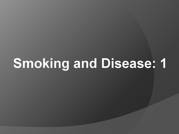 Preview of Smoking and disease