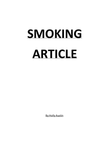Preview of Smoking Article