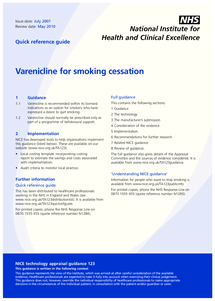 Preview of smoking cessation quick