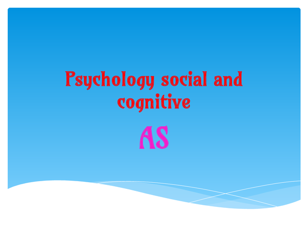 Preview of SOCIAL AND COGNITIVE