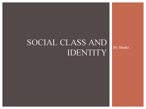 Preview of Social class and identity