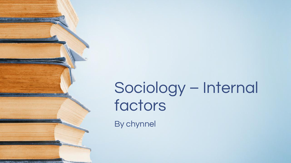 Preview of Social Class - internal factors