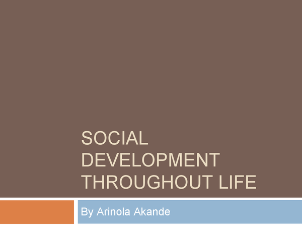 Preview of Social development
