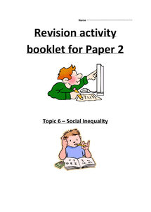 Preview of Social Inequality Revision Booklet