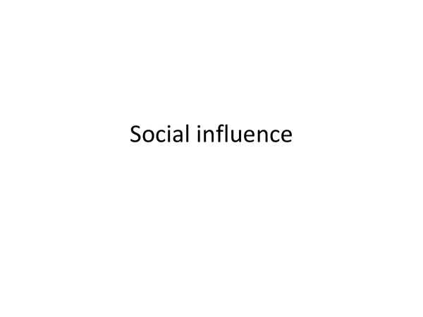 Preview of social influence