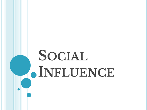 Preview of Social Influence Powerpoint