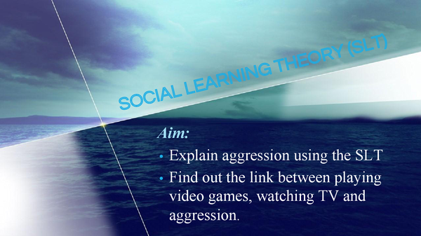 Preview of Social Learning Theory