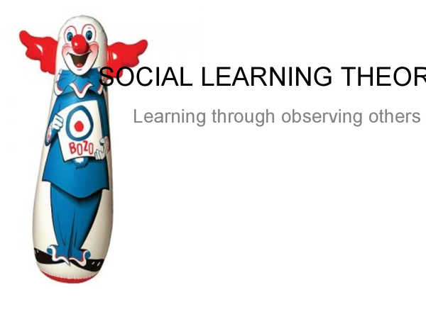 Preview of Social Learning Theory Presentation