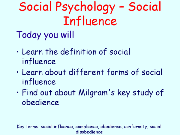 Preview of social obedience