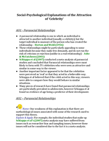 Preview of Social-Psychological Explanations of the Attraction of 'Celebrity'