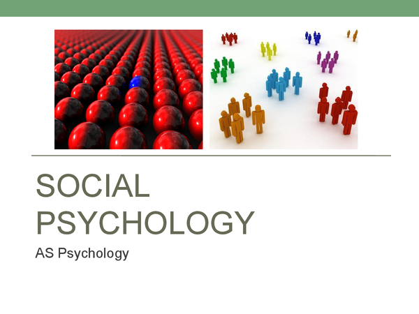 Preview of Social Psychology *Whole Topic*