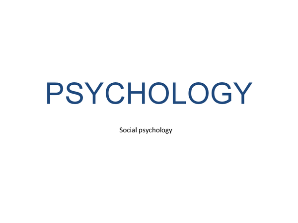 Preview of Social Psychology AQA