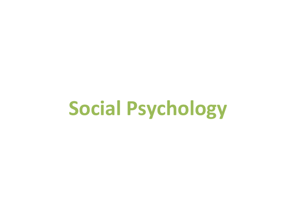 Preview of Social psychology complete notes