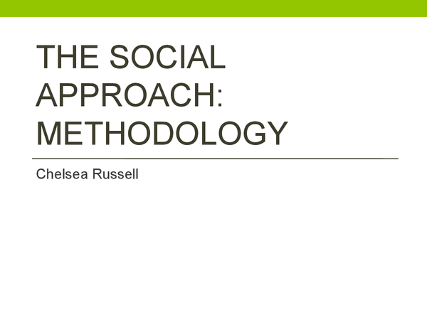 Preview of Social Psychology - Introduction and methodology