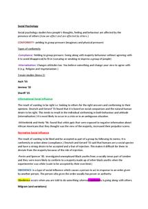 Preview of Social Psychology PSYA2