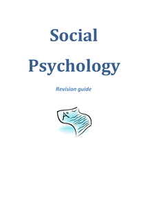 Preview of Social Revision Guide