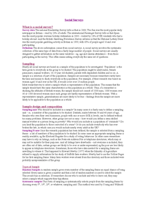 Preview of Social Surveys