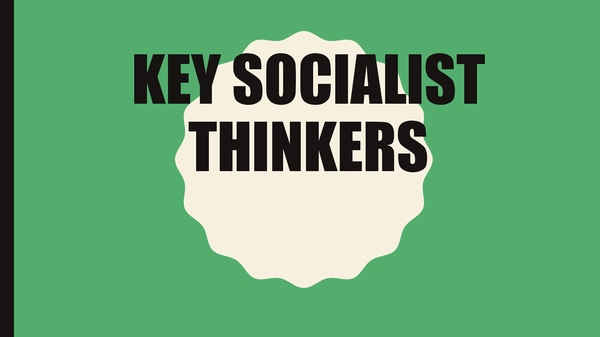 Preview of Socialism Key Thinkers