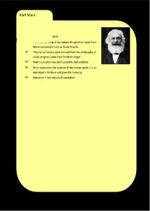 Preview of Socialism Key Profiles: Karl Marx