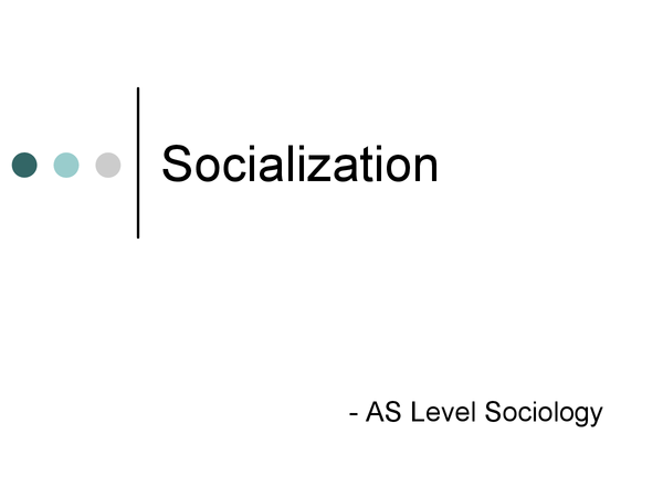 Preview of Socialization Powerpoint
