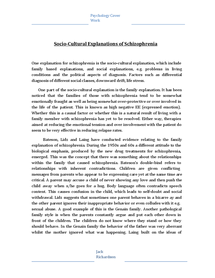 Preview of Sociocultural Explanations of Schizophrenia Notes