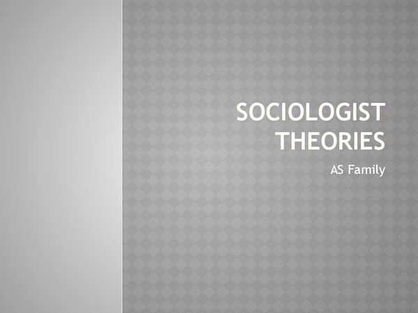 Preview of Sociologists