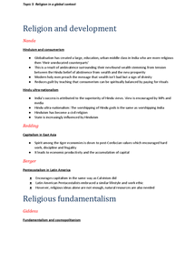 Preview of Sociology A2 Beliefs in Society - Topic 5: Religion in a global context