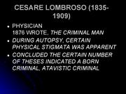 Cesare lombroso study