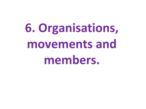 Preview of Sociology Beliefs: Organisations, Movements and Members