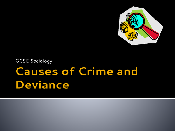 Preview of Sociology: Causes of crime and deviance