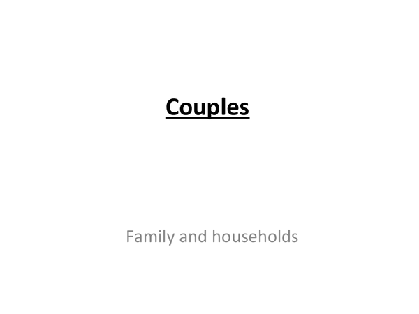 Preview of Sociology - couples
