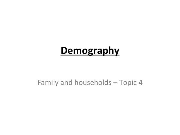 Preview of sociology - demography