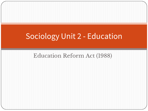 Preview of Sociology ERA education