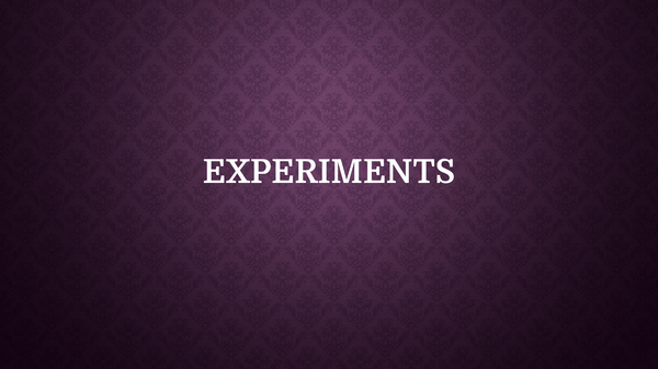 Preview of sociology research methods- experiments
