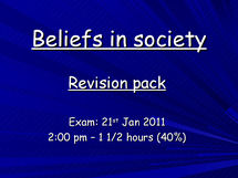 Preview of sociology revision