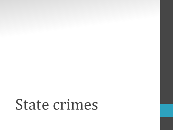 Preview of Sociology - State Crimes