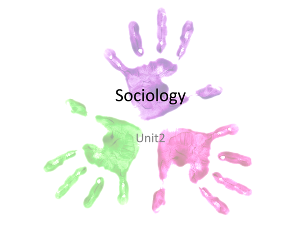 Preview of Sociology unit 2 (Minus Mass Media)